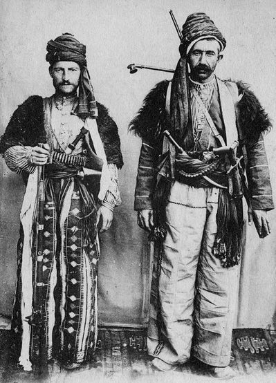 Chaldeans from Mardin, Turkey, 19th century. They are Syriac-speaking Christians in unity with Rome; they are ethnic Assyrians whose history reaches back to pre-Biblical times.
