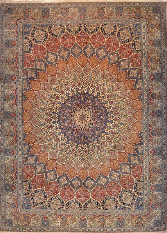 Fine Persian Nain Carpet 3.54x2.60m