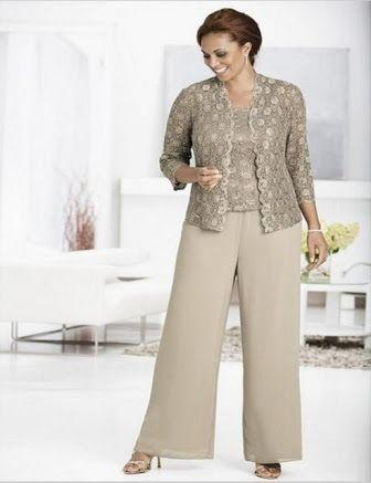 Resultado de imagen para plus size pants suits for weddings
