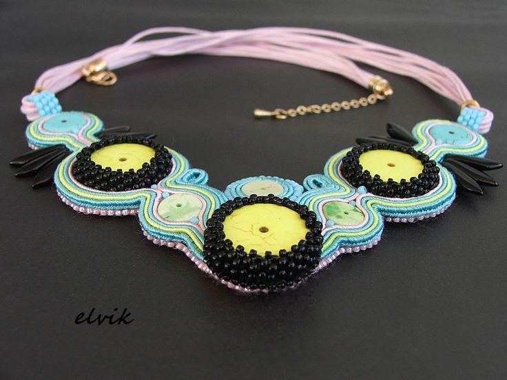 Naszyjnik Italiano / Italiano necklace FB - http://www.facebook.com/soutache.elvik