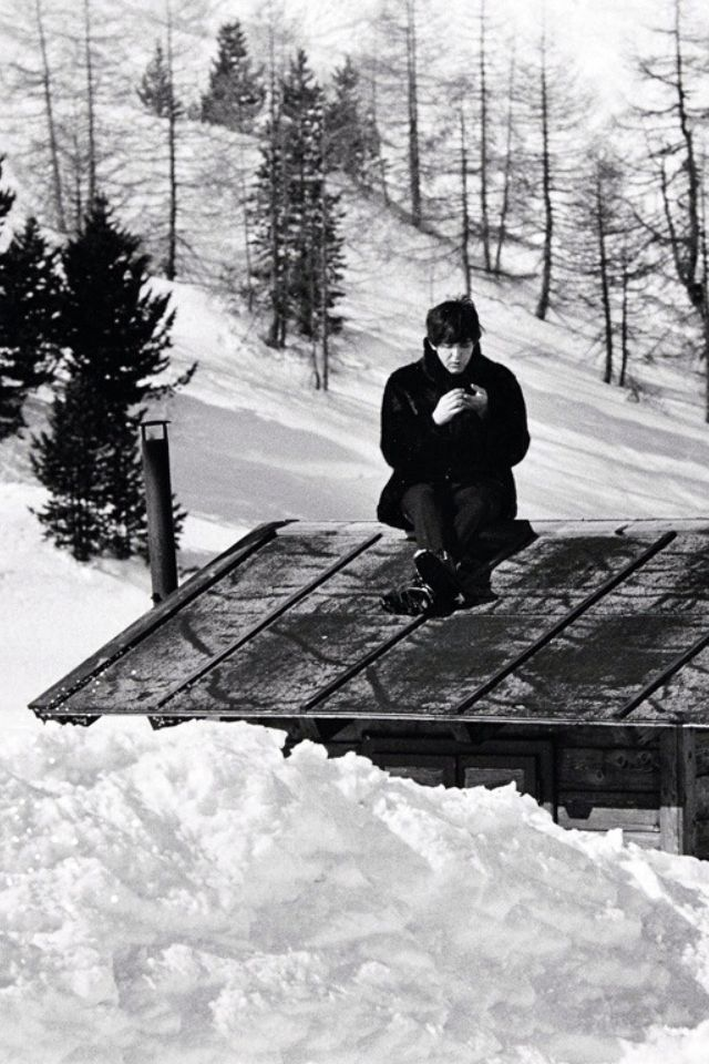 1965 - Paul McCartney in Help! film (backstage photo).