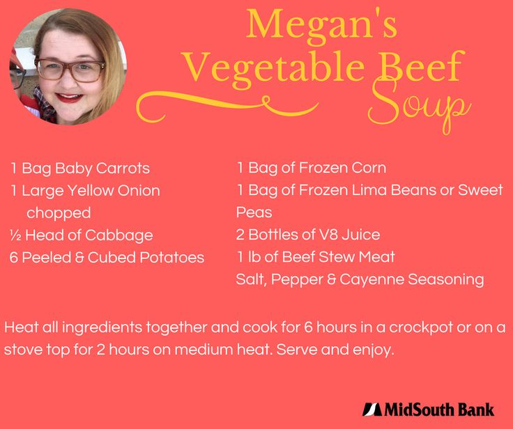 Megan's Soup is perfect for the busy family – prep it the night before, put it on before leave and have dinner done by the time you get home from work or school. #TastyTuesday