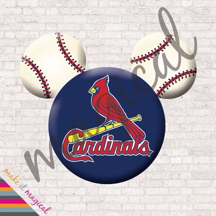 St. Louis Cardinals Disney Iron On / St. Louis Cardinals Shirt / Cardinals Mickey Mouse Digital / St. Louis Cardinals Mickey Ears Baseball by MakeitMagical on Etsy https://www.etsy.com/listing/231362755/st-louis-cardinals-disney-iron-on-st