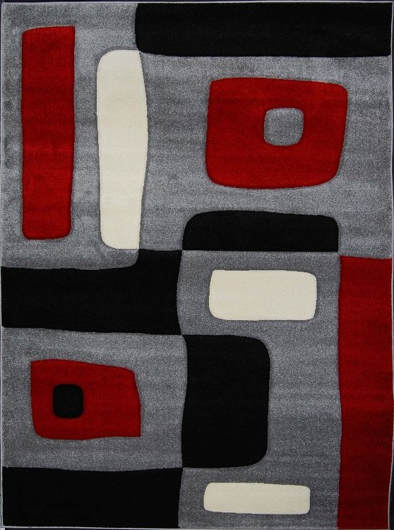 Best Red Gray Area Rugs Images On Pinterest Black Rug Red