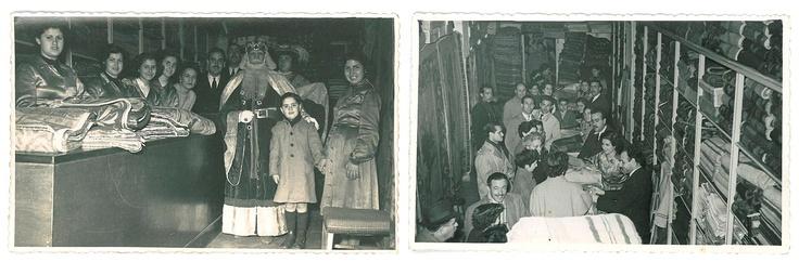 1950  ELS REIS MAGS ENS VISITEN A LA BOTIGA DE GALERIES MALDÀ.