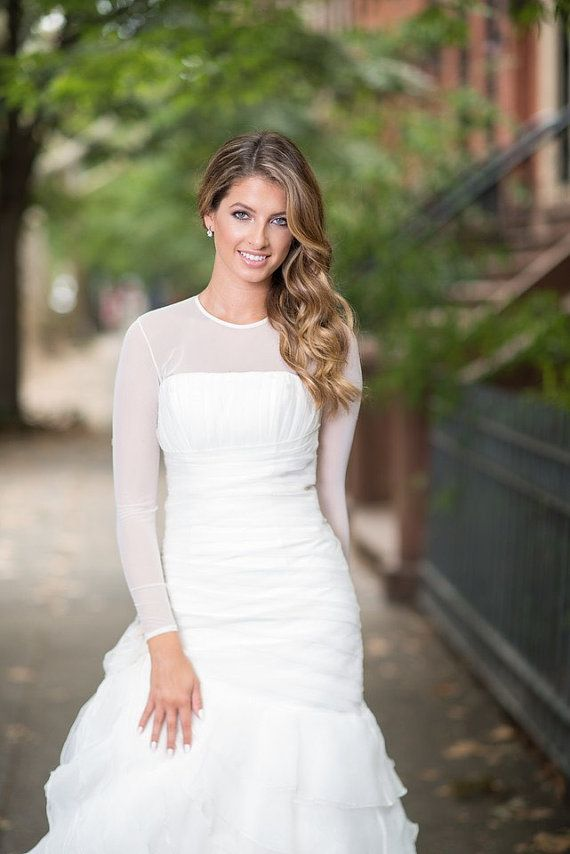 Sheer Bodysuit Ceremony Bridal Cover Up By Secondskinbodysuit Modest Jewish Wedding Ideas