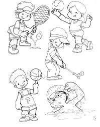 Resultado de imagen de dibujo niño deporte colorear