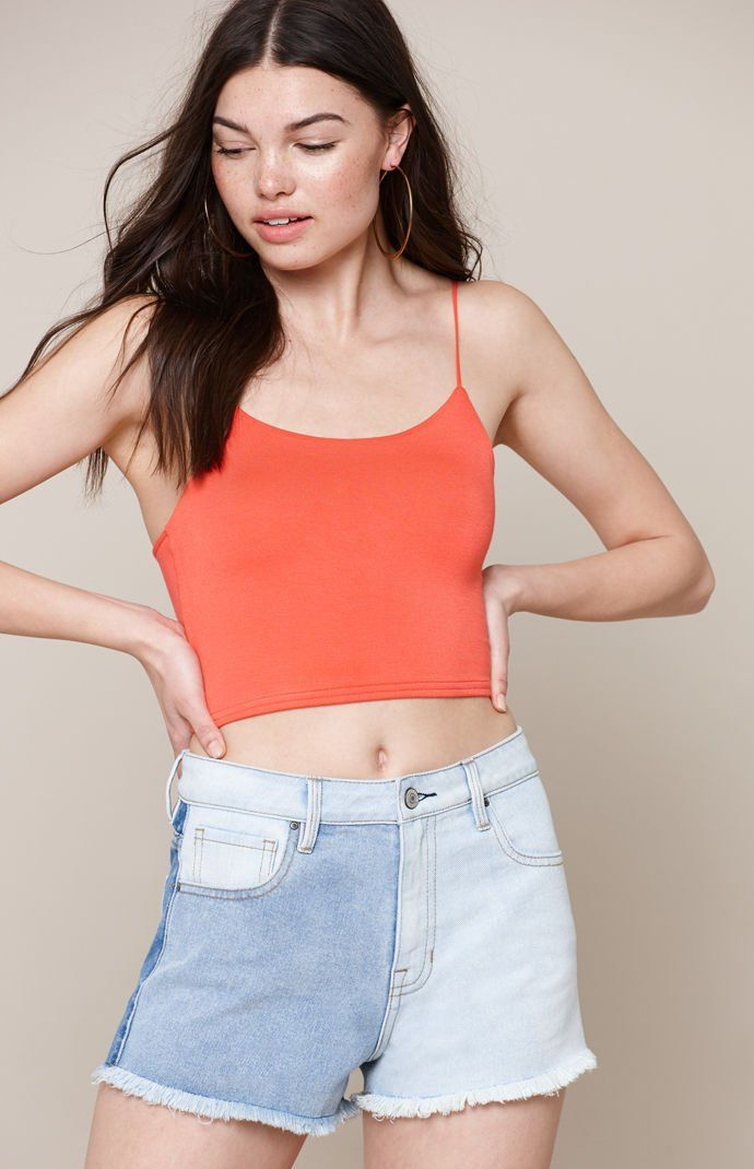 ab976788ac3aa7 Easy Cropped Cami Tank Top