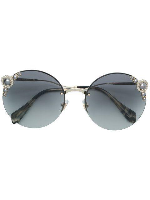 9837e0d84b Miu Miu Eyewear pearls collection round shape sunglasses