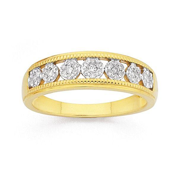 9ct, Diamond Ring