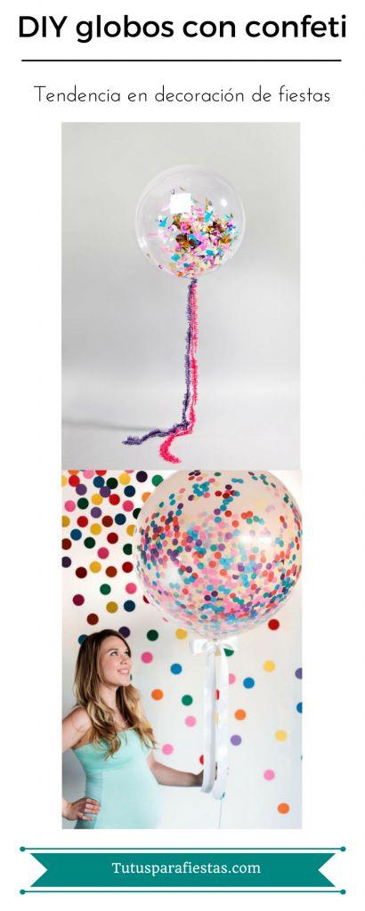 DIY Como hacer globos con confeti http://tutusparafiestas.com/es/diy-globos-confeti/
