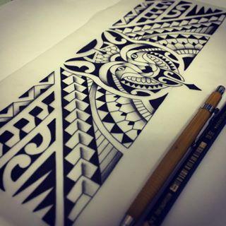 Faixa maori Lobo Wolf tattoo Tatuagem stripes abstract ink