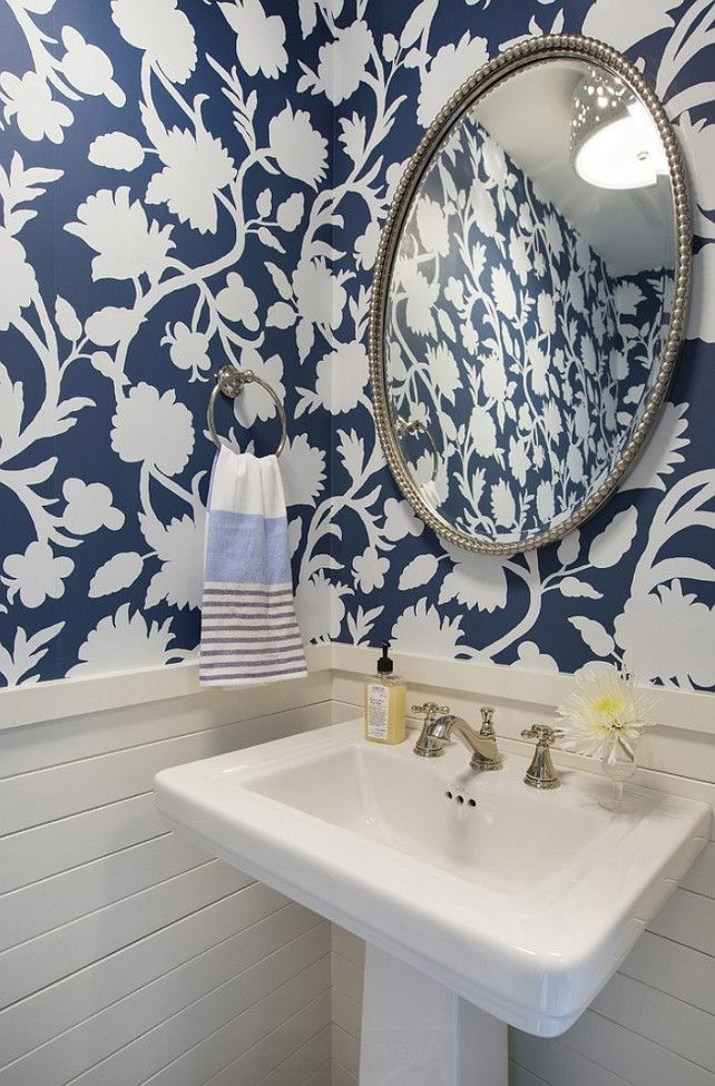 1000 Ideas About Blue Powder Rooms On Pinterest Powder