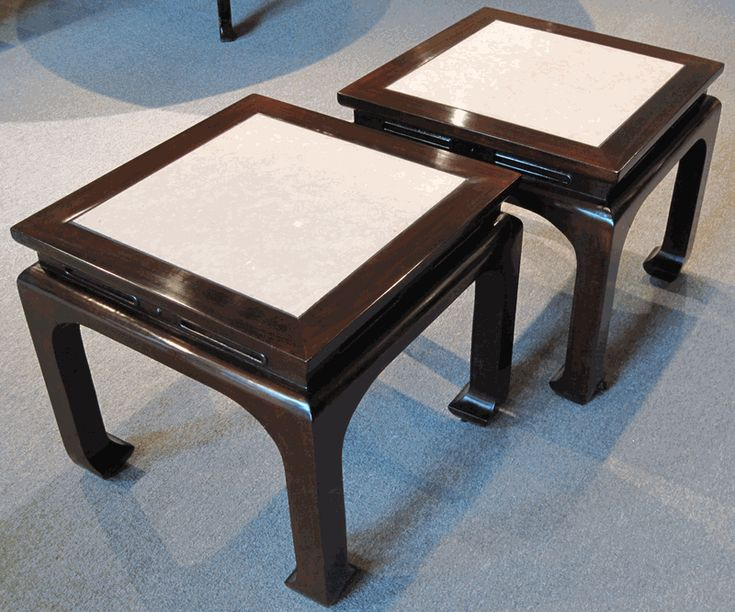 Good Asian Furniture: Pair Of Ming Style Rosewood Side Tables From Guangdong  Province, China
