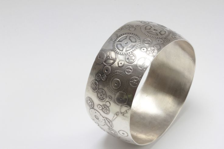 """About Time"" Silver Bangle by Robyn Manning"