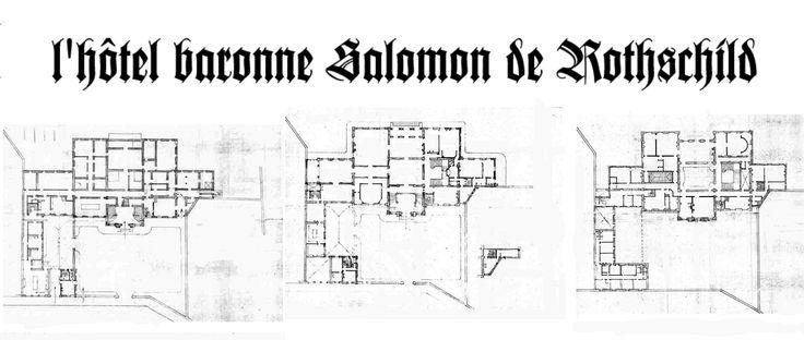 L 39 h tel baronne salomon de rothschild haus pinterest architecture - Plan slaapkamer kleedkamer ...