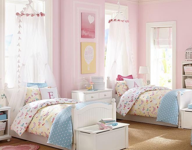 Twin Girl Bedrooms Twin Girls Yellow Bedrooms Shared Bedrooms Bird .