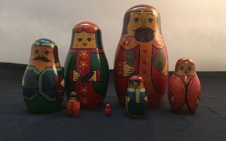 Russian Family Matryoshka Nesting Dolls – 7 pc. Set (Code:2017-E).   eBay!