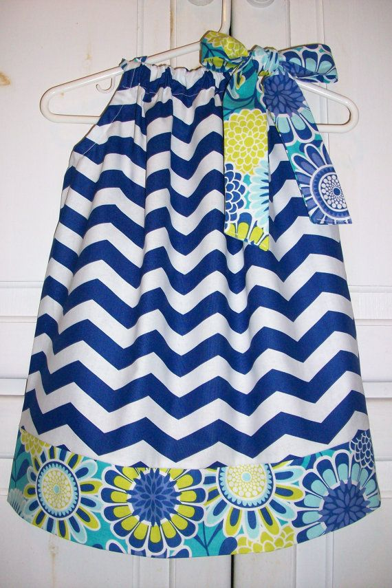 Pillowcase Dress CHEVRON and SASSARI Summer by lilsweetieboutique, $19.99