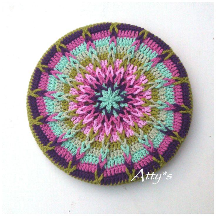 Atty's : Crochet Mandala Pot Coaster Tutorial༺✿ƬⱤღ  http://www.pinterest.com/teretegui/✿༻