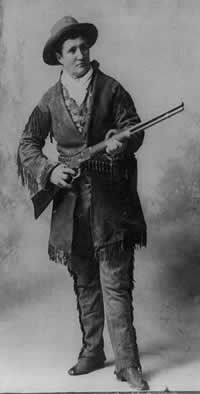 """Calamity Jane"" aka Martha Jane Cannary - Professional scout and claimed acquaintance of Wild Bill Hickok"