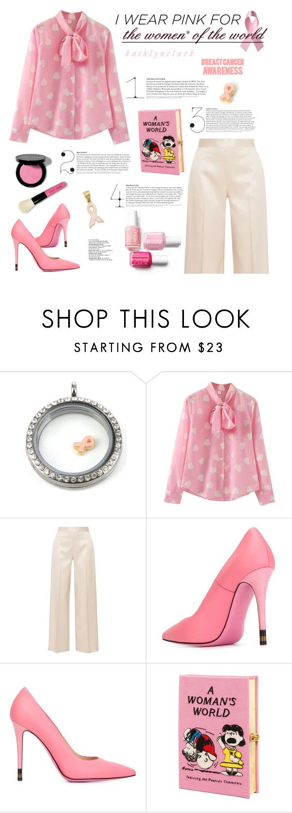 """""""313 : I Wear Pink for the Women* of the world - Fendi Anne Pumps."""" by kathlynclark ❤ liked on Polyvore featuring The Row, Fendi and Olympia Le-Tan"""