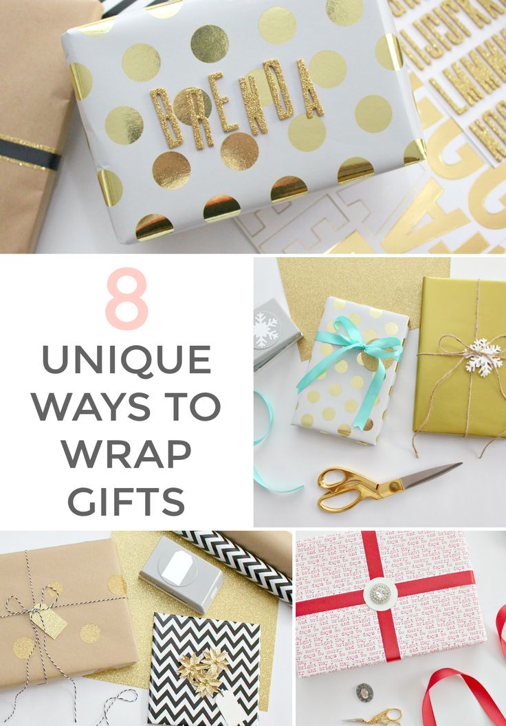 8 UNIQUE WAYS TO WRAP A HOLIDAY GIFT