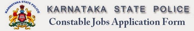 Karnataka State Police Recruitment 2014 - Constable Application Form Online
