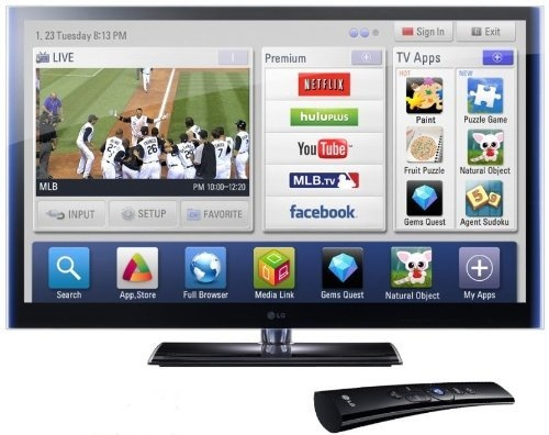 LG Infinia 60PZ950 60-Inch 1080p 600 Hz Active 3D THX Certified Plasma HDTV with TruBlack Filter and Smart TV