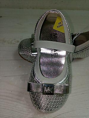 Michael Kors, kindershuhe, ballerine paillettes, детская обувь 24, 29 Silver