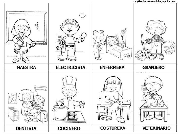 Resultado de imagen para actividades para niños sobre las profesiones y oficios