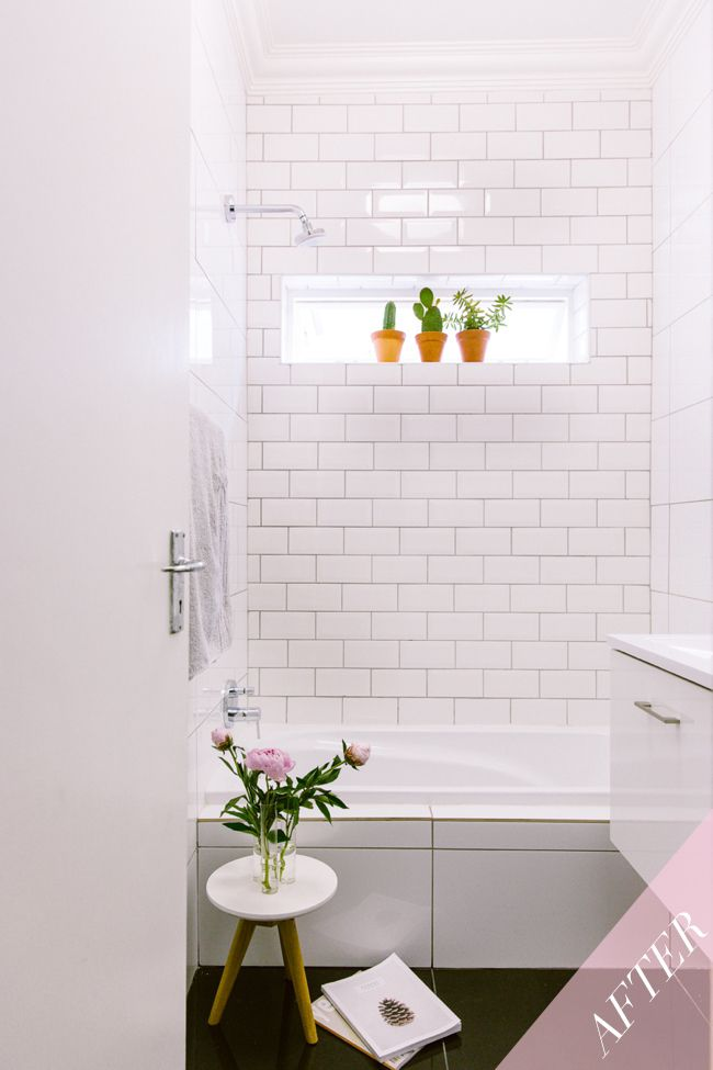 Here's the new look #guestbathroom. A tip for bathroom makeovers is to research, research and research. Visit www.tileafrica.co.za for ideas.
