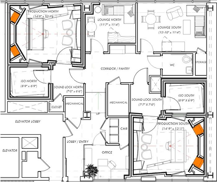 Recording studio floor plans architecture gurus floor for Music studio floor plans
