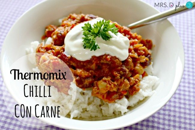 Mrs D plus 3 | Thermomix Chilli Con Carne recipe | http://www.mrsdplus3.com