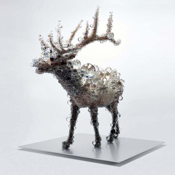I found this amazing animal sculptures at blog: iloboyou.com  http://iloboyou.com/kohei-nawa-contemporary-sculptures/#.USz4xqLby04