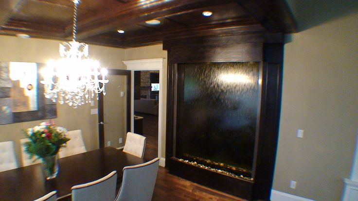 Double Sided Water Wall Custom Water Feature http://waterfallnow.com https://waterfalldecor.com