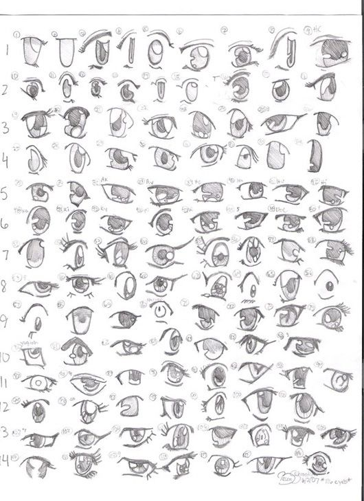 Different eyes for you guys to try out sometime. Row 6 is one of my favorite rows in this pic for eyes.
