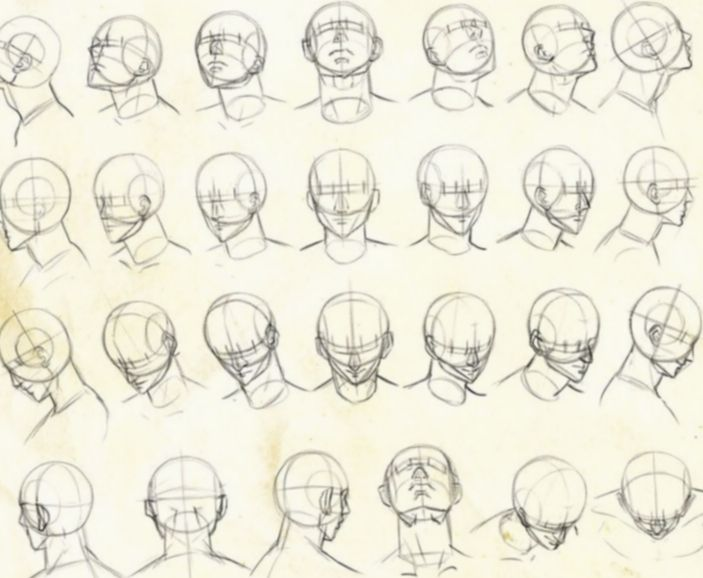 15 Anime Poses Reference Head Drawing Heads Anime Poses Reference Drawings