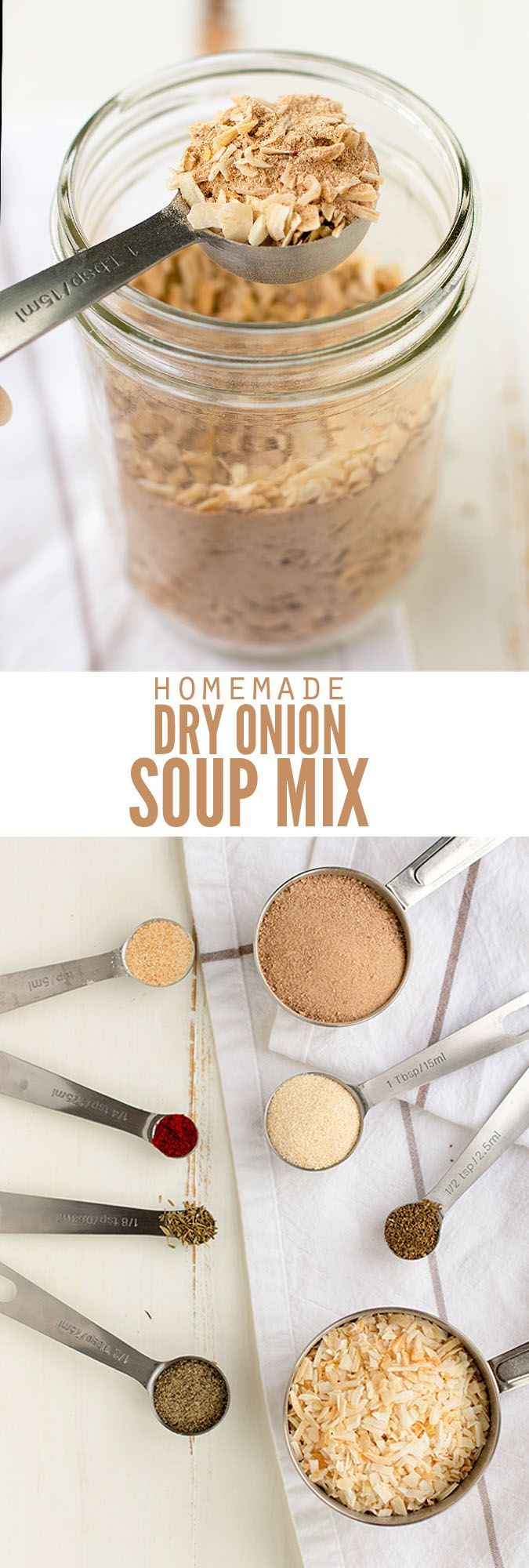 Skip the packets of Lipton dry onion soup mix and make this homemade version instead. You need just 4 simple ingredients and you probably already have them! :: DontWastetheCrumbs.com