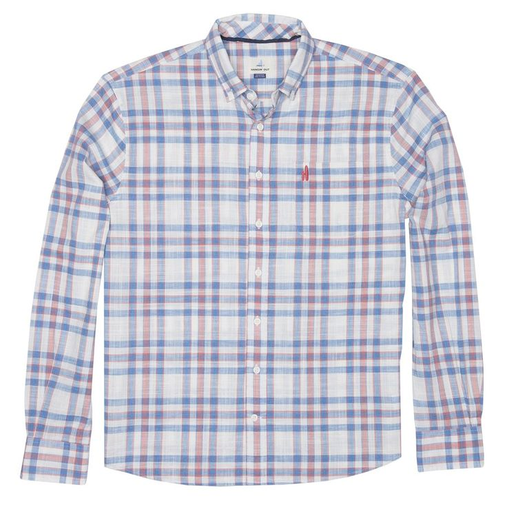 Ellington Hangin' Out Button Down Shirt in Malibu Red by Johnnie-O