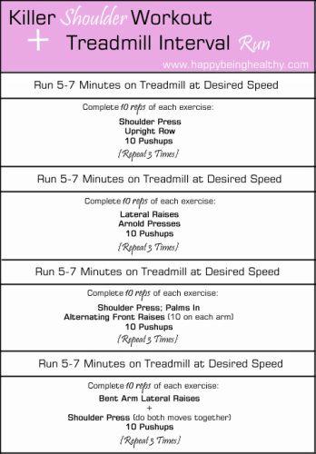 Killer Shoulder Workout + Treadmill Interval Run