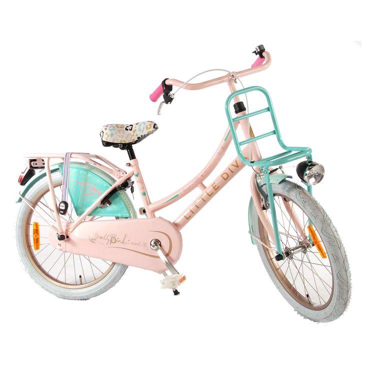 """Volare Kinderfiets Little Diva 20"""" roze Roze  Description: De Little Diva 20 inch is een fantastische moderne transportfiets voor meisjes in de leeftijdsklasse van 6 tot 8 jaar. De combinatie van verschillende kleuren maken deze fiets een hippe fiets om bijvoorbeeld naar school te fietsen. Het stalen oversized frame is uiterst stabiel en op de bagagedrager met snelbinders of voordrager vervoer je makkelijk je school- of sporttas. Ook kan je op de voordrager een leuk krat monteren zodat je de…"""