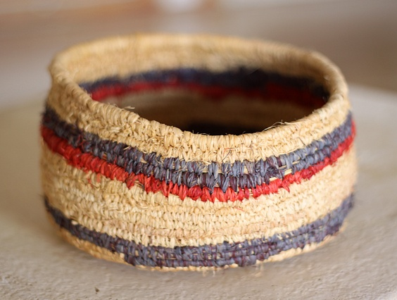 SHOP :: Art & Prints :: Hand Woven Baskets :: Medium Hand Woven Natural Raffia Basket - COUNTRY CULTURE