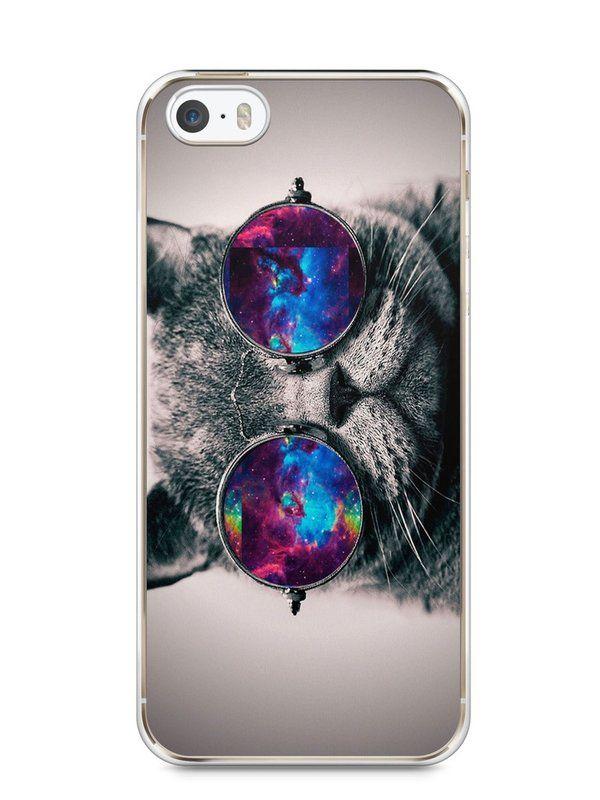 Capa Iphone 5/S Gato Galáxia #1 - SmartCases - Acessórios para celulares e tablets :)