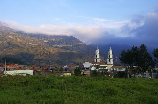 The pretty town of Susacon in Colombia
