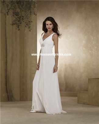 second wedding dresses | Informal Full Length Wedding Gown | Forever Yours style 38108