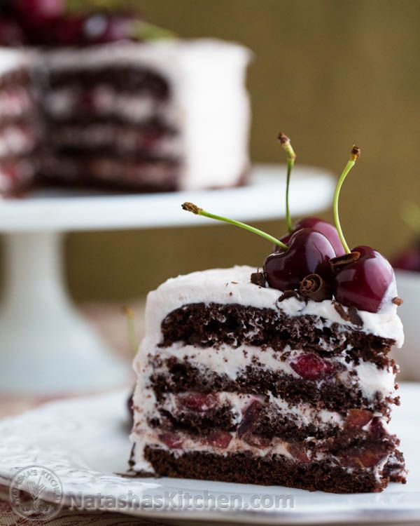Drunken Cherry Chocolate Cake with Cherry Cream Cheese Frosting ~T~ A perfect cake for cherry season. I used Myers Dark Rum instead of Bacardi Gold just because I like it. The rum soaked cherry juice is used to flavor the frosting. YUM