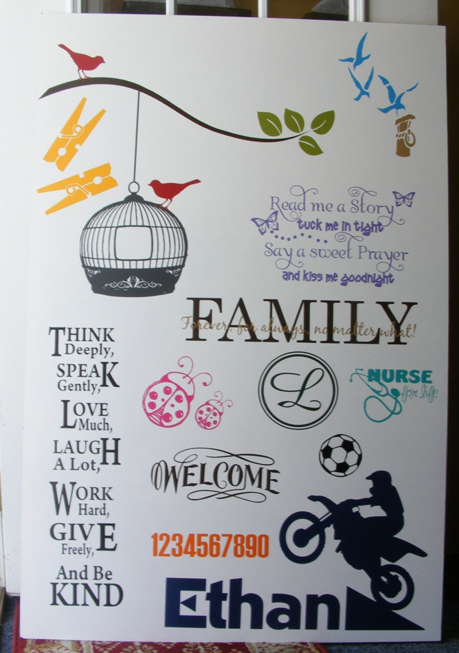 Vinyl Craft Show Display Board....love the nurse design for next year