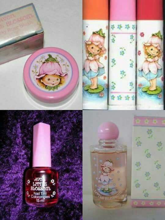 First perfume and cosmetics. 80's girl.