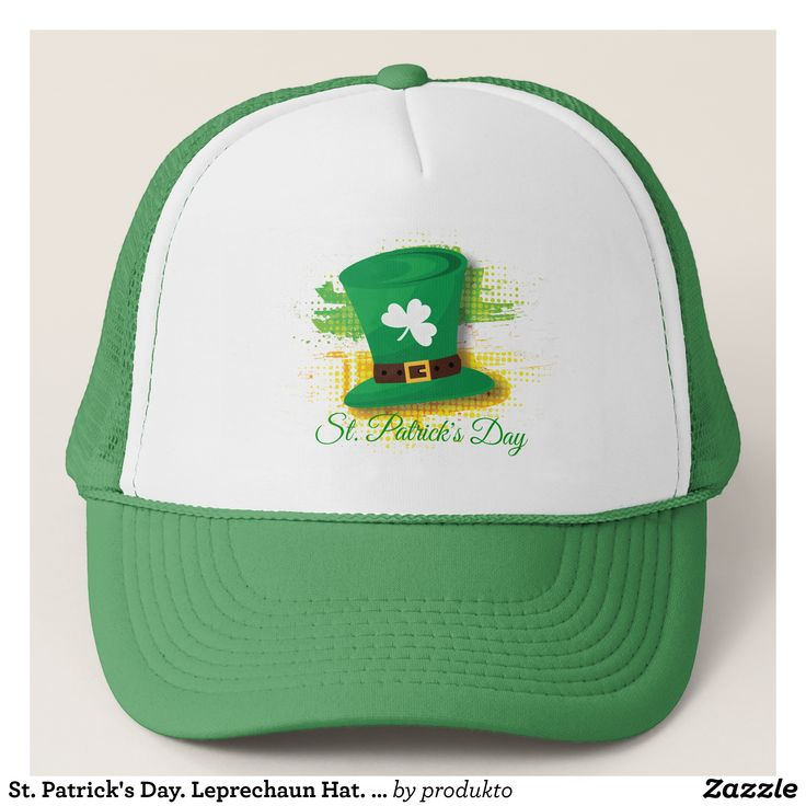 St. Patrick's Day. Leprechaun Hat. Ireland Flag. Trucker Hat - Urban Hunter Fisher Farmer Redneck Hats By Talented Fashion And Graphic Designers - #hats #truckerhat #mensfashion #apparel #shopping #bargain #sale #outfit #stylish #cool #graphicdesign #trendy #fashion #design #fashiondesign #designer #fashiondesigner #style